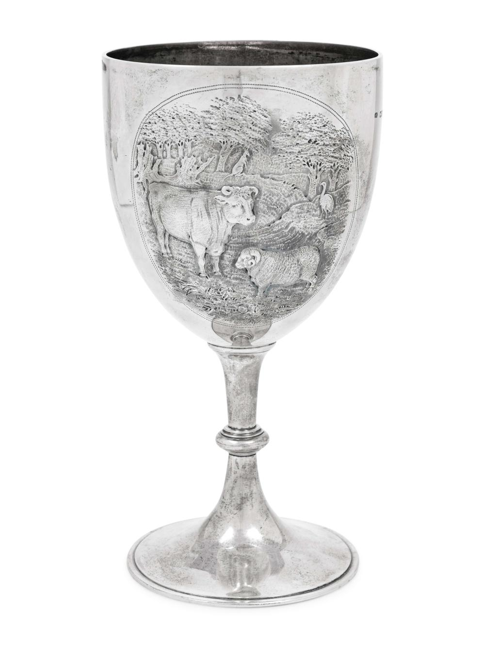 A Large Victorian Silver Chalice of Australian Interest