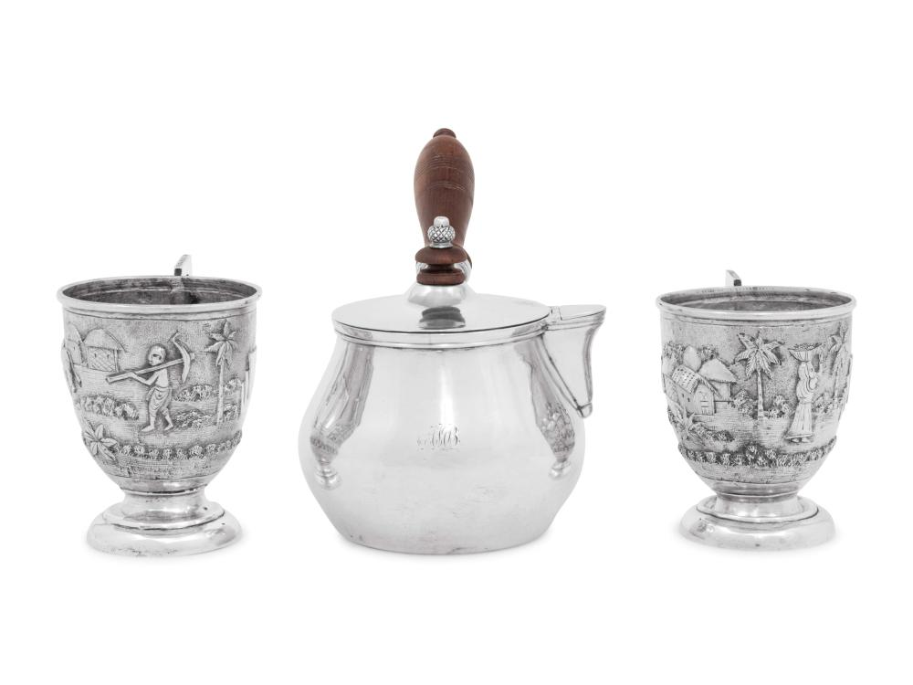 An Indian Colonial Victorian Silver Brandy Warmer