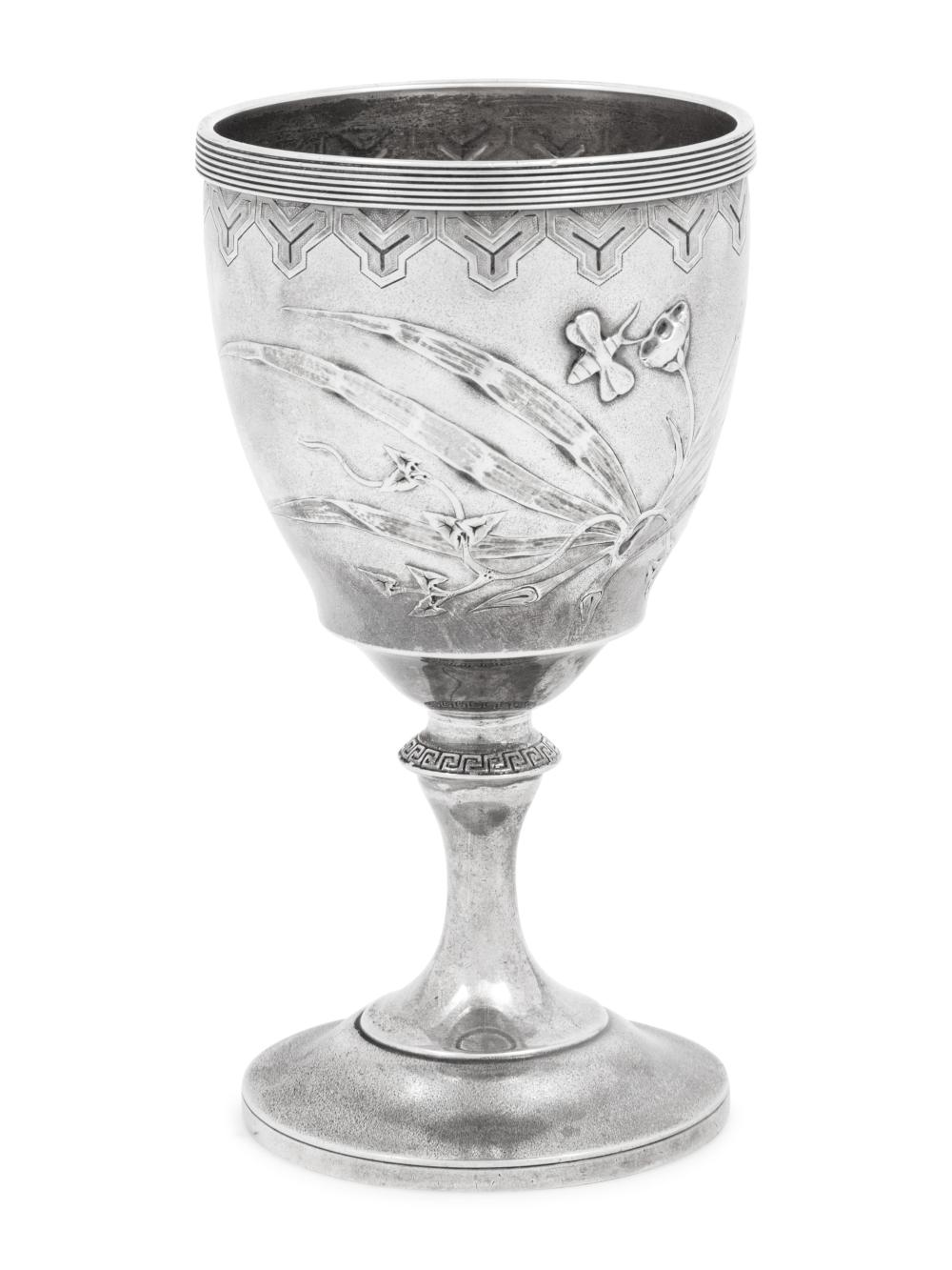 An American Aesthetic Movement Silver Chalice