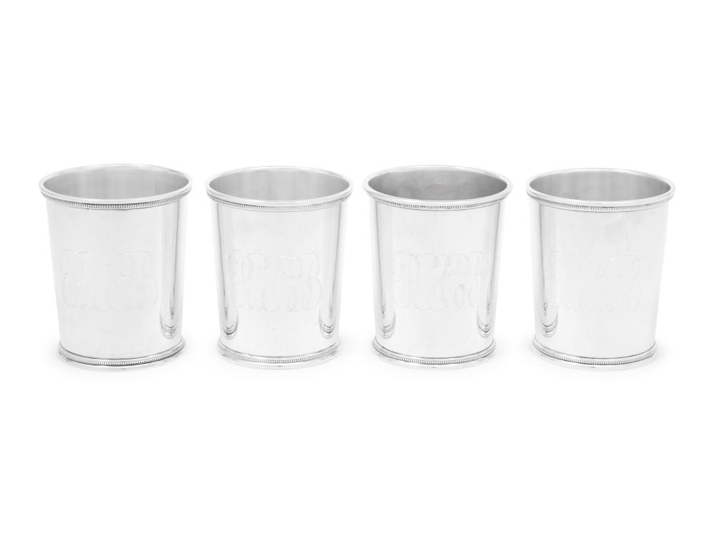 A Set of Four American Silver Julep Cups
