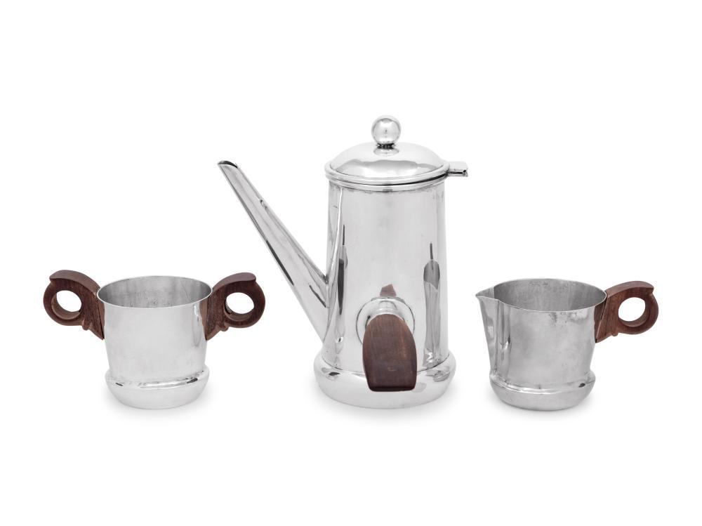 A William Spratling Silver Three Piece Coffee Service
