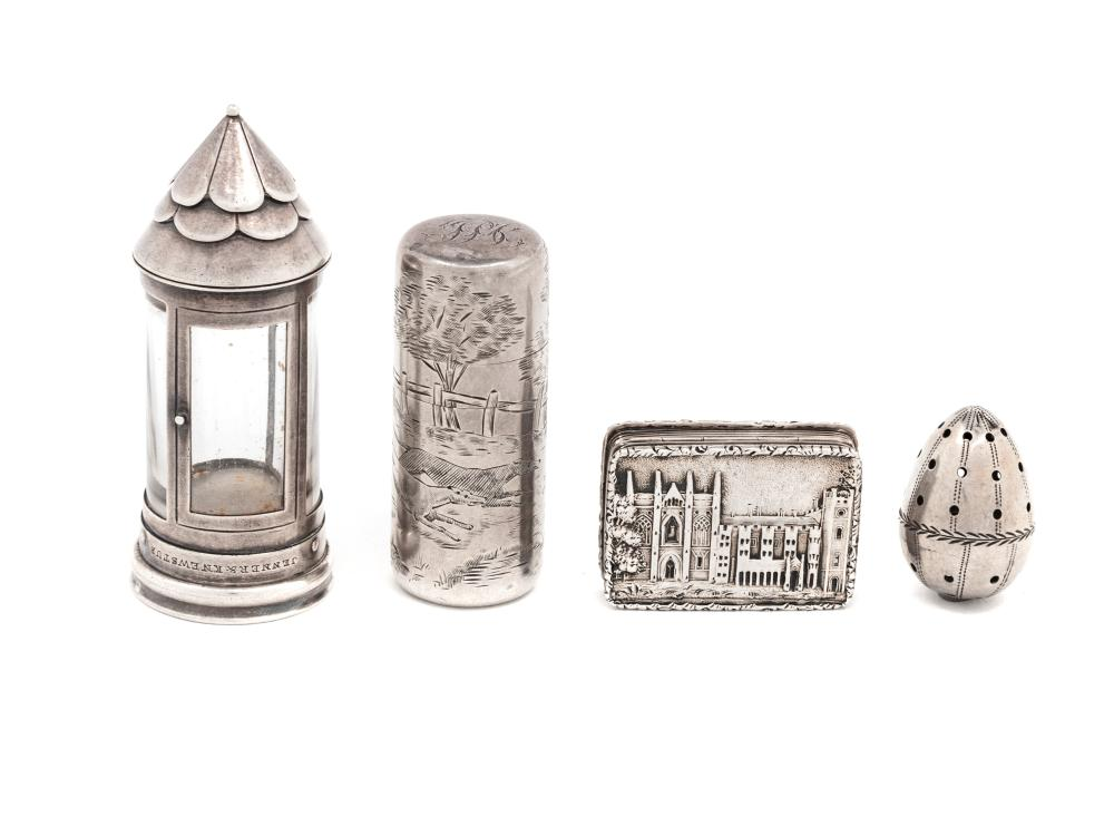 A Group of Four Silver Scent Articles