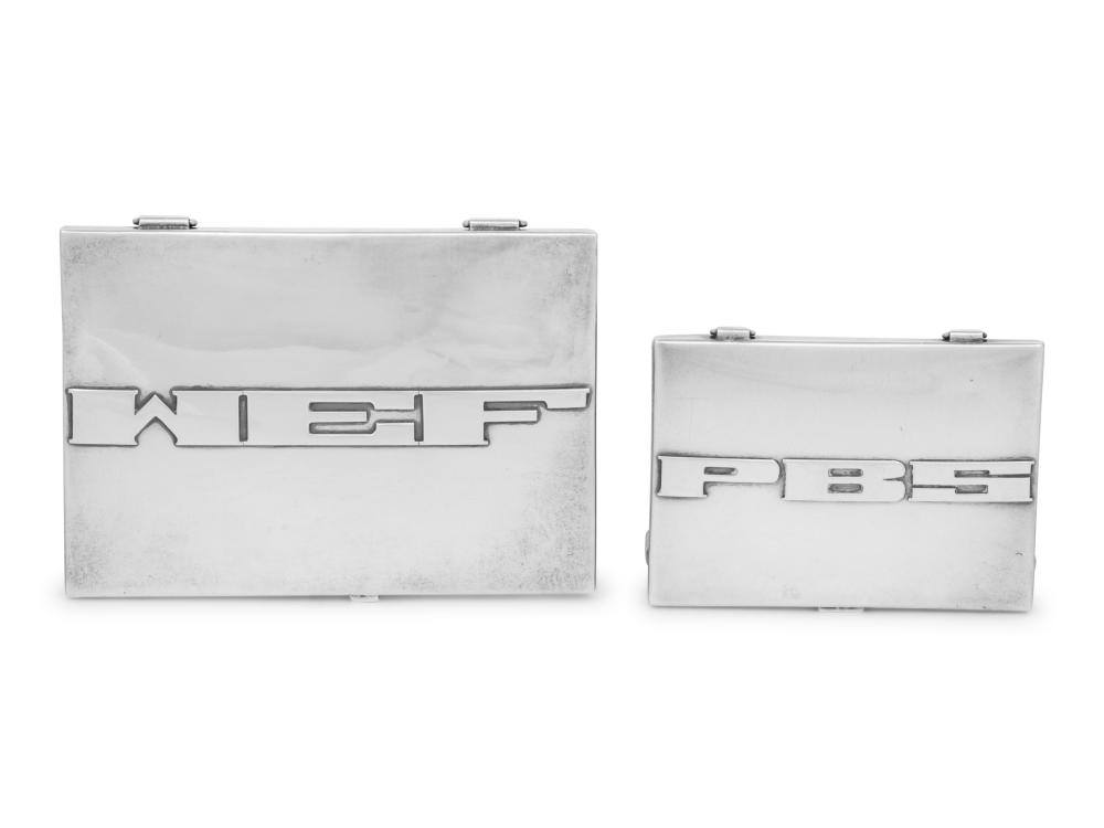 Two American Southwest Silver Cases
