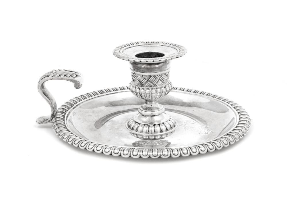 A Paul Storr George III Silver Chamberstick