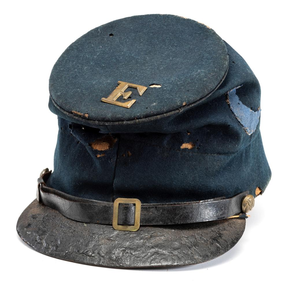 Model 1858 enlisted man's forage cap with blue 3rd Division, XI Corps badge.
