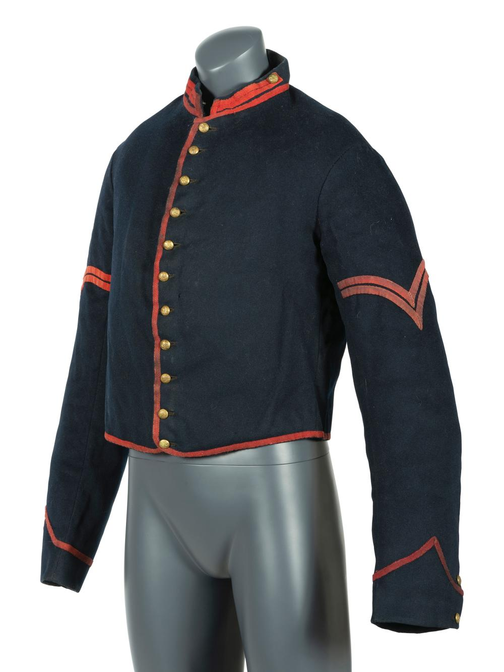 Model 1855 artillery corporal's uniform jacket with field modifications.
