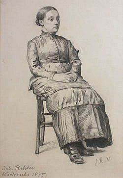 Julius Christian Redher, (German, 1861-1966), Portriat of a Seated Woman