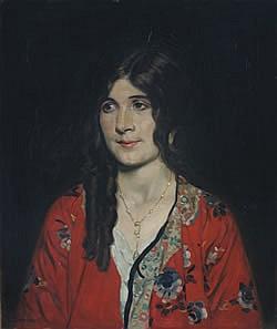 Howard Somerville, (Scottish, b.1873), Portrait of a Lady in Kimono