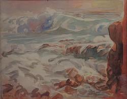 Charles Biesel, (American, 1865-1945), Coastal Scene