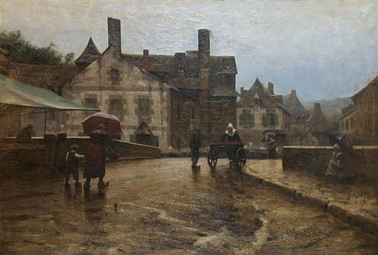 Clifford Provost Grayson, (American, 1857-1951), Rainy Day in Pont Aven, 1882