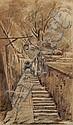 Stanislaw Wyspianski, (Polish, 1869-1907), Walled Walkway in Spain, Stanislaw Wyspianski, Click for value