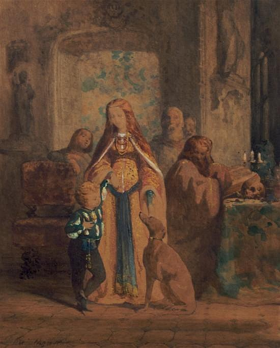 Anton Teofil Kwiatkowski, (Polish, 1809-1891), Untitled (Medieval Scene)