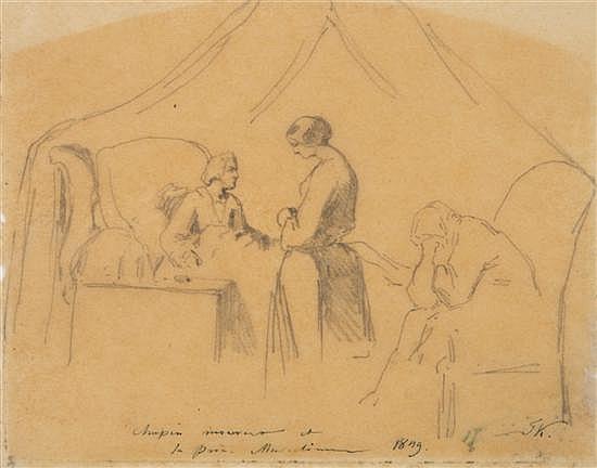 Anton Teofil Kwiatkowski, (Polish, 1809-1891), Chopin in Illness