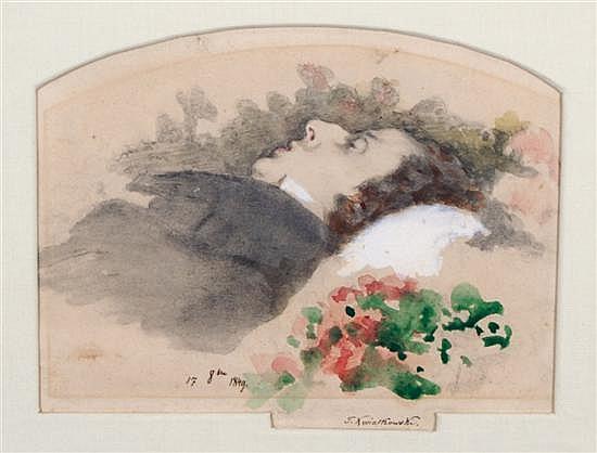 Anton Teofil Kwiatkowski, (Polish, 1809-1891), Frédéric Chopin on His Deathbead