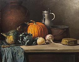 Robert Schade, (Wisconsin, 1861-1912), Vegetable Still Life