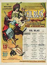 * Emile Levy, (French, 1826-1890), Gil Blas: Le plus litteraire, le plus parisien des Journaux