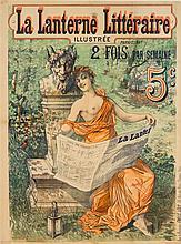 * Emile Levy, (French, 1826-1890), La Lanterne Litteraire Illustre, 1892