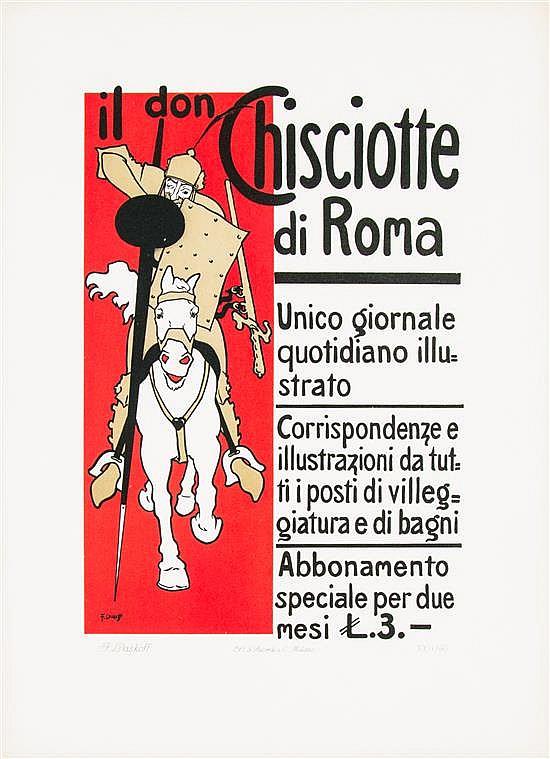 * Franz Laskoff, (Italian, 1869-1918), Il don Chisciotte di Roma, 1900-1914
