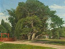 * Julius Aagaard, (Scandanavian, 1847-1926), Country Scene, 1918