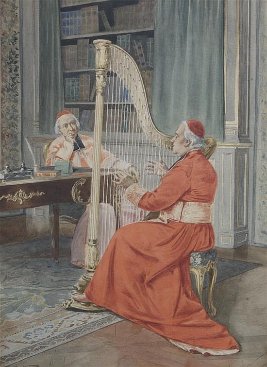 Alfred Weber, (Swiss, 1859-1922), Loisirs de monseigneur