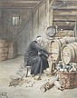 Alfred Weber, (American, 1859-1922), Tapping the Barrel, Alfred Weber, Click for value