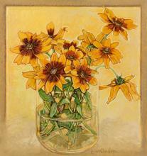 Loren Dunlap (American, b. 1932) Still Life with Sunflowers
