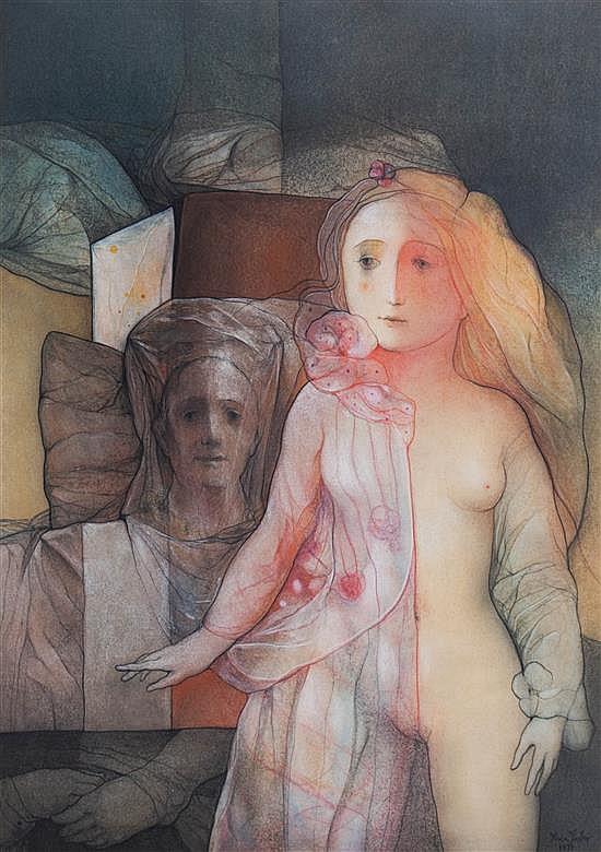 Miguel Roca Fuster, (Spanish, b. 1942), Surreal Nude, 1971