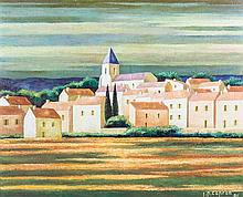 Jean Pierre Capron, (French, 1921-1997), French Village, 1981