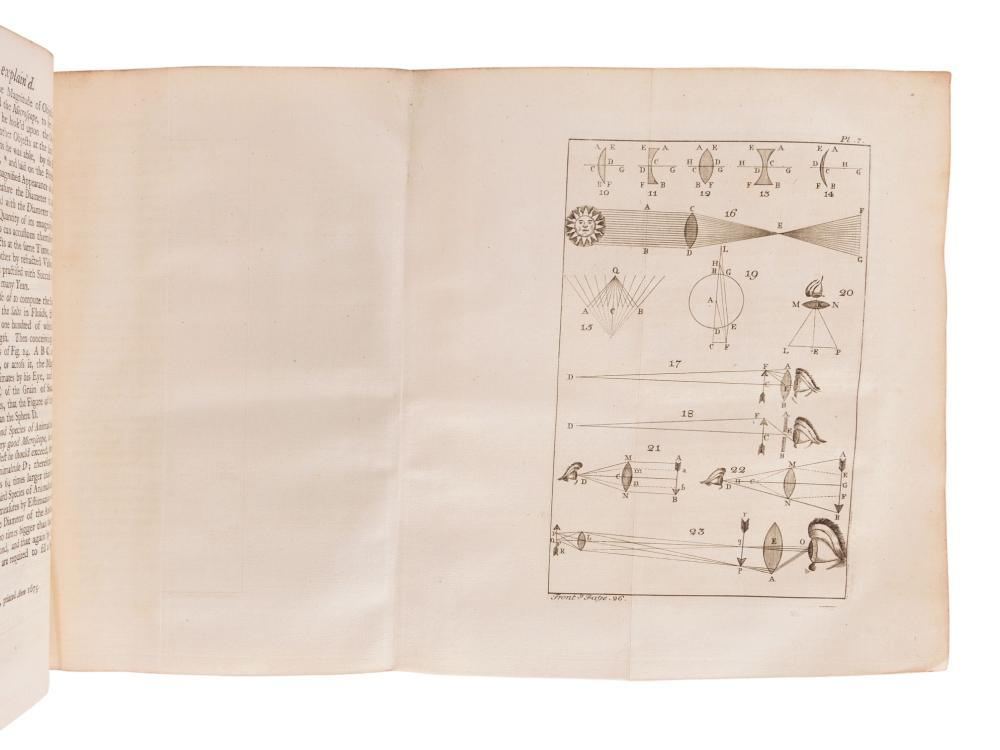 ADAMS, George (1750-1795).  Micrographia Illustrata, or the Microscope Explained.... London: for the author, 1747.
