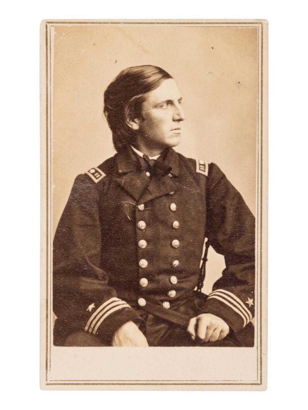 CUSHING, William Barker (1842-1874). CDV. New York: E. & H.T. Anthony, [ca.1862].