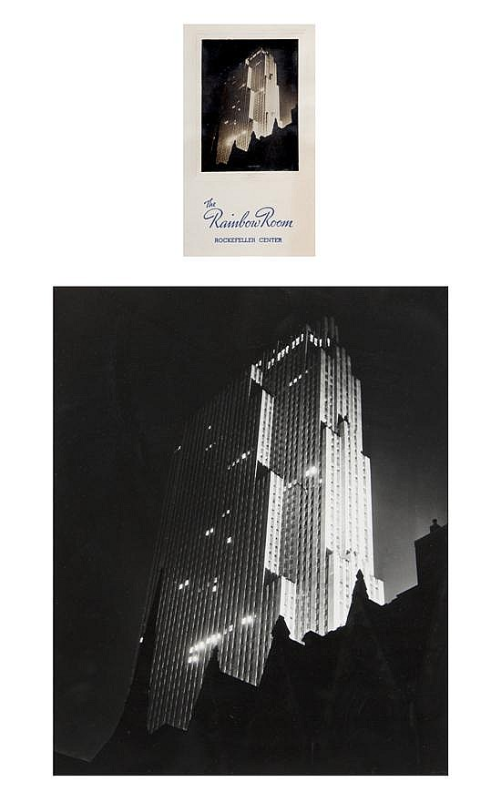 *Paul J. Woolf, (American, 1899-1985), RCA Building Above Church of St. Nicholas, 1938