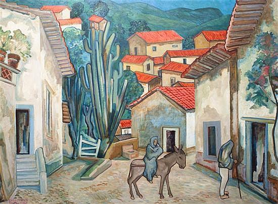 Carl Pappe, (American, 1900-1998), Tasco Landscape, 1960