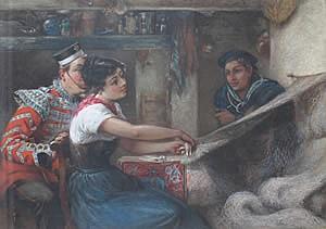 Edwin Buckman, (British, 1841-1930), The Girl They Left Behind