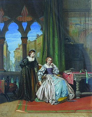 John Edmund Buckley, (British, 1820-1884), A Scene Illustrated from Othello