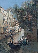 Nicholas Briganti, (American, 1861-1944), San Pieter Canal-Venice