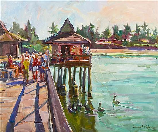 James P. Kerr, (American, b. 1953), Naples Pier