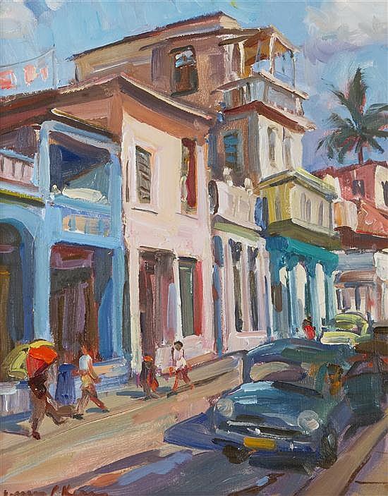 James P. Kerr, (American, b. 1953), Maximo Gomez Street, (Pinar Del Rio, Cuba)