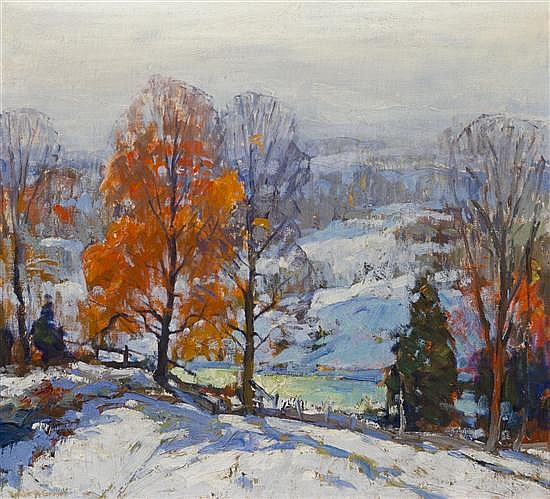 Emile Albert Gruppe, (American, 1896-1978), New Hampshire Winter