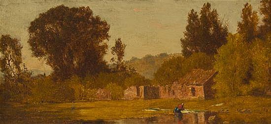James Renwick Brevoort, (American, 1832-1918), Ruins in the Woods