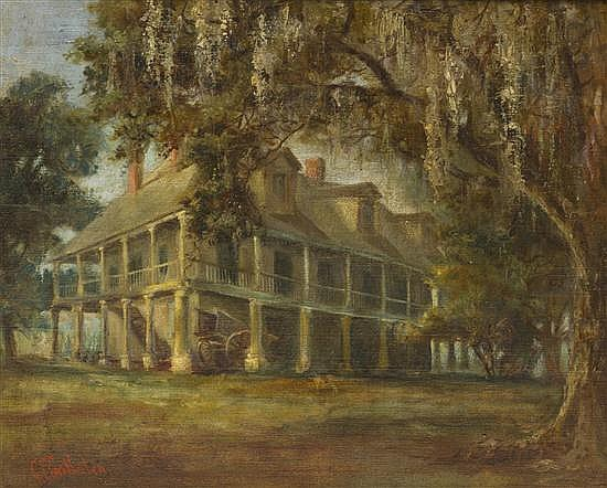 * George Frederick Castleden, (American, 1861-1945), Plantation Manor
