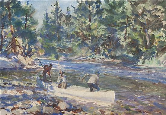 John Whorf, (American, 1903-1959), Salmon Waters, No. 30