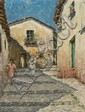 Will Howe Foote, (American, 1874-1965), Steps, Tasco, Mexico