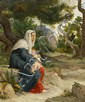 Jean Francois Ferdinand Lematte, (French, 1850-1929), Madonna and Child Seated in Garden