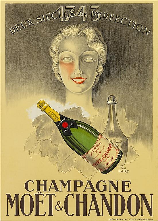 Paul Igert, (French, b. 1899), Champagne Moët & Chandon