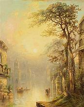 James Salt, (British, 1850-1903), Venetian Scene, 1884