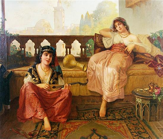 Vincent G. Stiepevich, (Russian/American, 1841-1910), Harem Scene