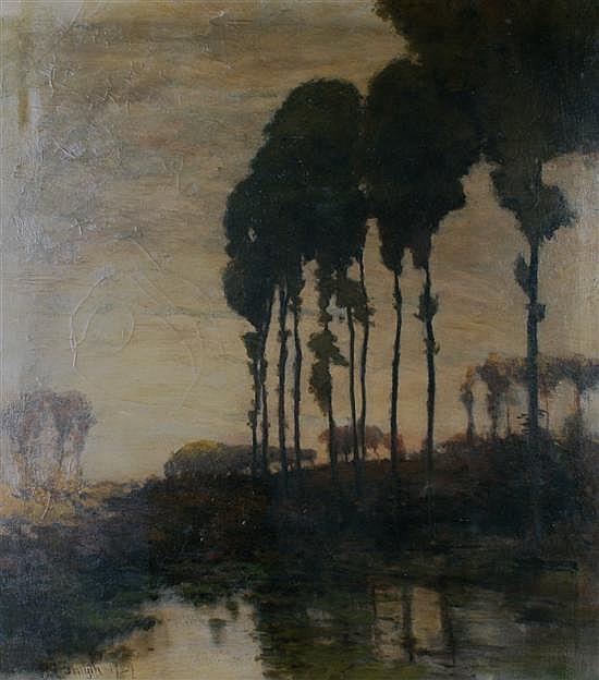Eugene Leslie Smythe, (American, 1857-1932), Cypress