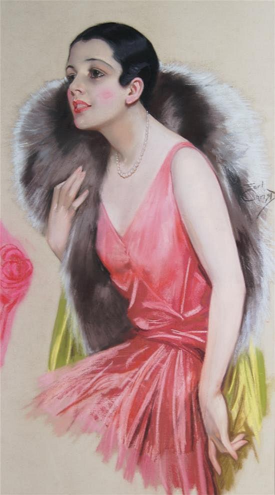 F. Earl Christy, (American, 1882-1961), Portrait of a Woman
