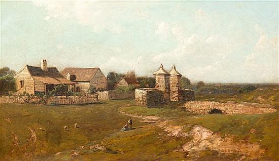 *John Bunyan Bristol, (American, 1826-1909), Gate, St. Augustine, Florida