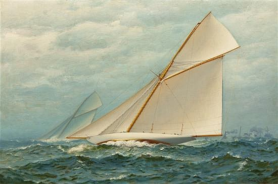 *James Gale Tyler, (American, 1855-1931), America's Cup Race, 1899